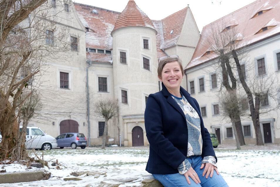 Ina Schumann darf sich über Unterstützung für Schloss Nossen freuen.