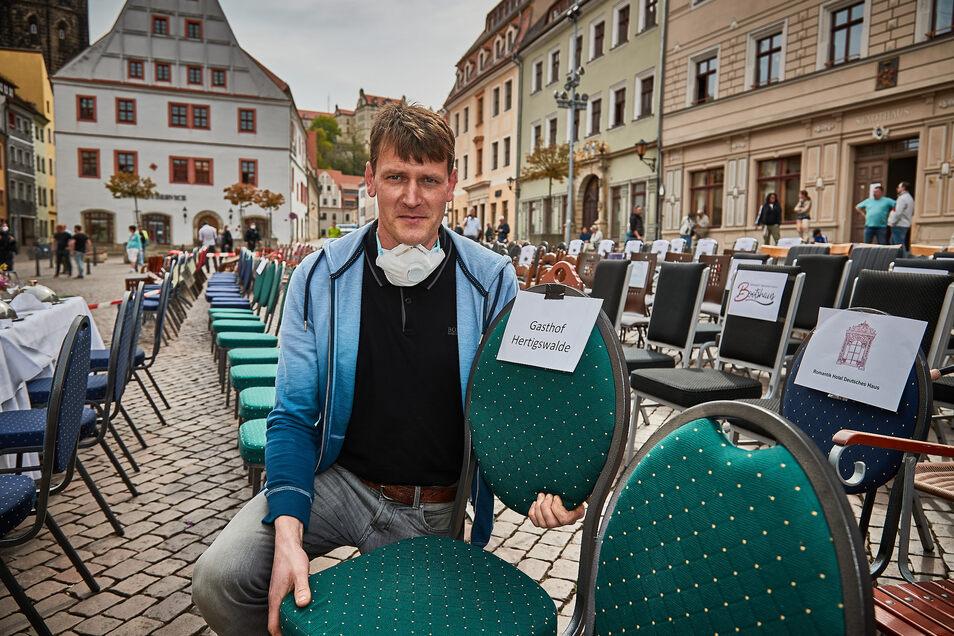 """Maik Richter, Inhaber des Gasthofes """"Hertigswalde"""": """"Soll ich meine Kühlschränke jetzt abschalten?"""""""