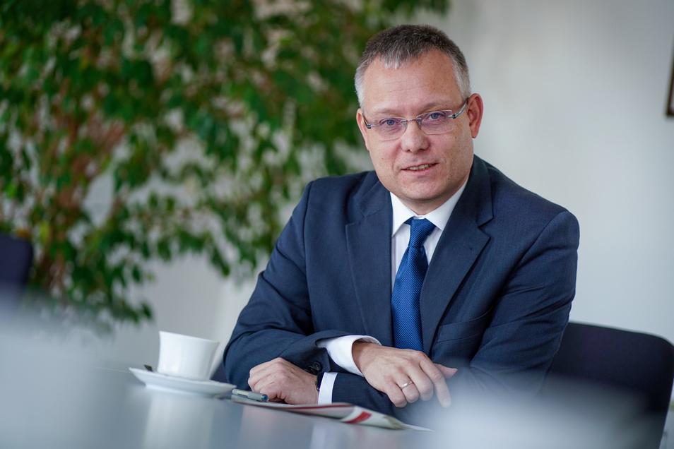 Jan Pratzka, Chef der Agentur für Arbeit Dresden.