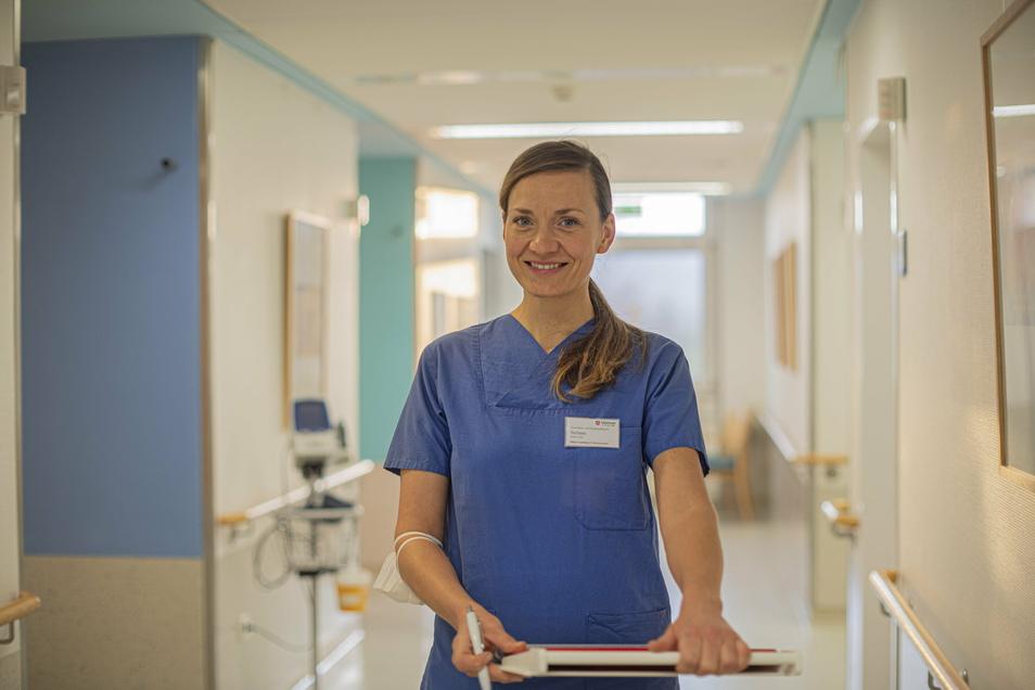 Stefanie Feiner arbeitet seit Oktober auf der Corona-Station im Kamenzer Krankenhaus.