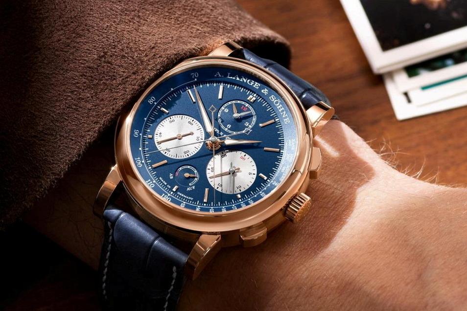 Lange-Modell 3: Der Triple Split in Rotgold. Dieser Zeitmesser kostet 159.400 Euro.
