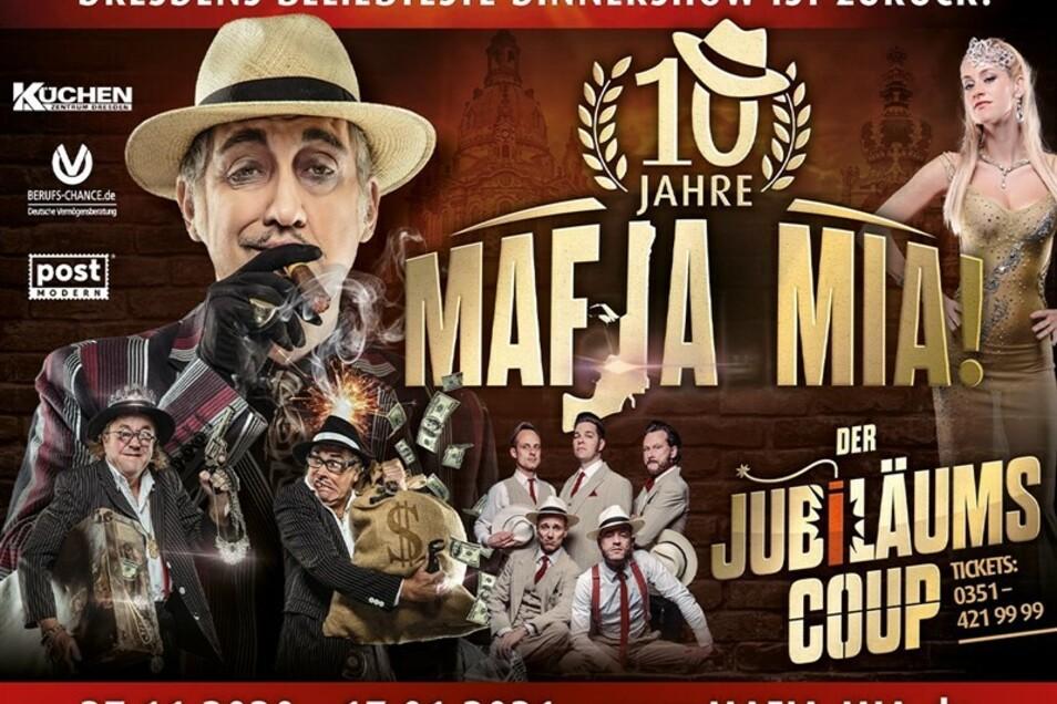 2 Tickets für 10 Jahre MAFIA MIA im Wert von 182,60€
