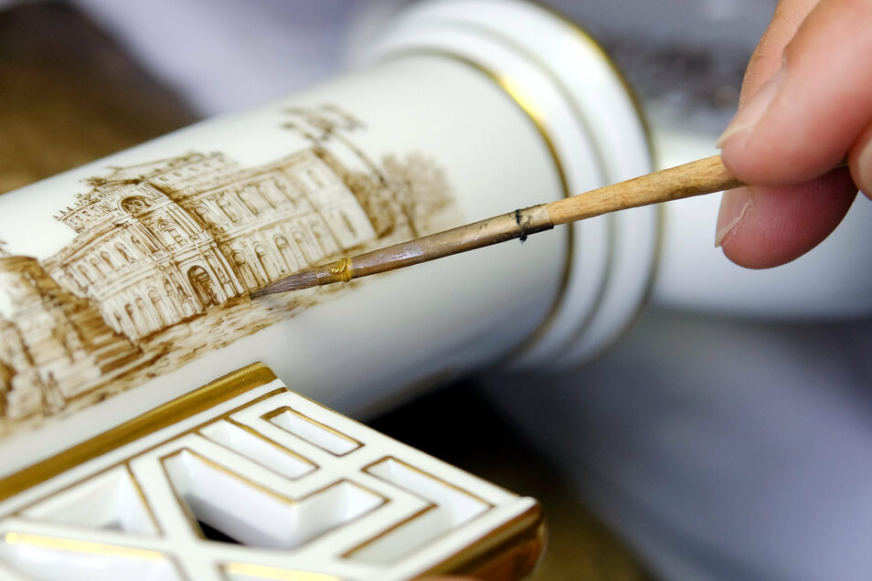 """Der """"Willkomm"""" genannte Porzellanschlüssel der Meissener Manufaktur wird gern als Gastgeschenk verwendet. Kann Meißens Porzellanerbe der Stadt auch den Titel Unesco-Weltkulturerbe erschließen?"""