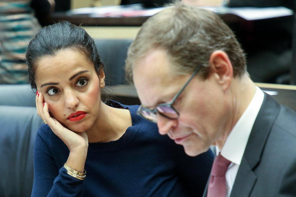 Sawsan Chebli bemüht sich im selben Berliner Wahlkreis wie der amtierende Berliner Bürgermeister Michael Müller (SPD) um eine Bundestagskandidatur.