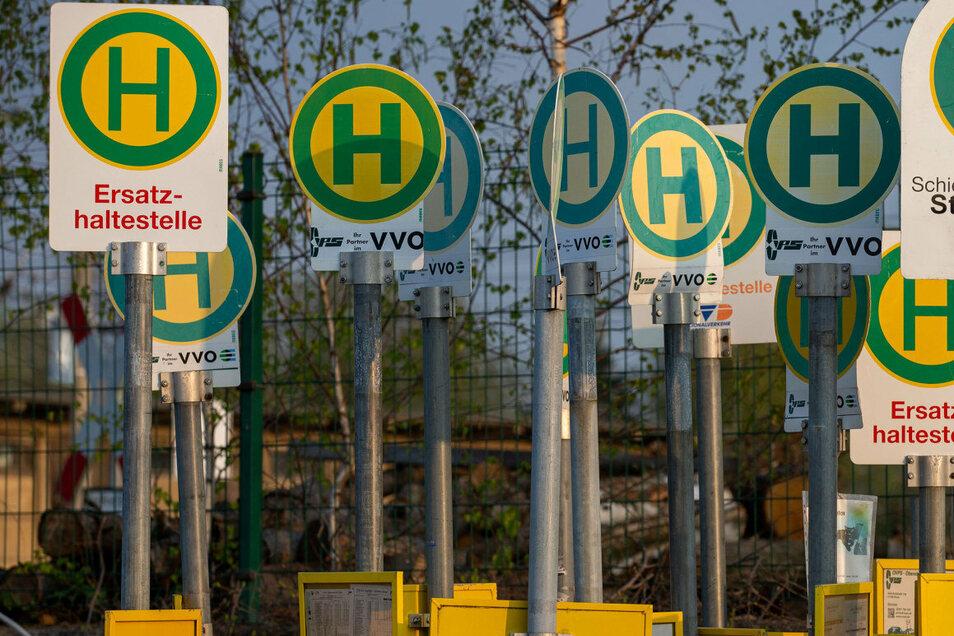 """In Schellerhau hat die """"Schneise 28"""" eine Ersatzhaltestelle."""