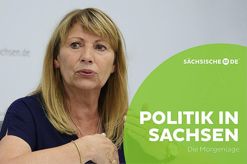 Sachsens Gesundheitsministerin Petra Köpping hat am Dienstag über die Änderungen in der Corona-Verordnung informiert.