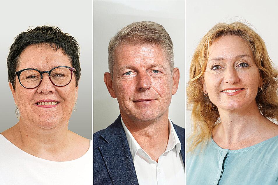 Diese drei Abgeordneten sitzen für den Wahlkreis Bautzen I im Bundestag (von links): Kathrin Michel (SPD), Karsten Hilse (AfD) und Caren Lay (Die Linke).
