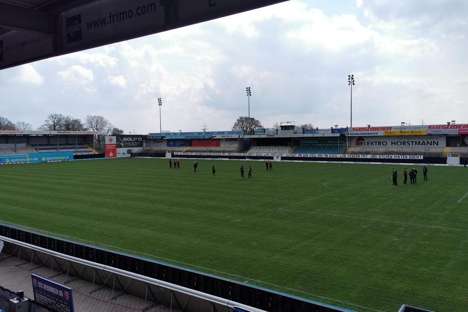 Gute Bedingungen im Stadion am Lotter Kreuz: Um 14 Uhr trifft hier Dynamo Dresden auf den KFC Uerdingen. In der Rückrunde ist Lotte die Ersatzspielstätte der Uerdinger.