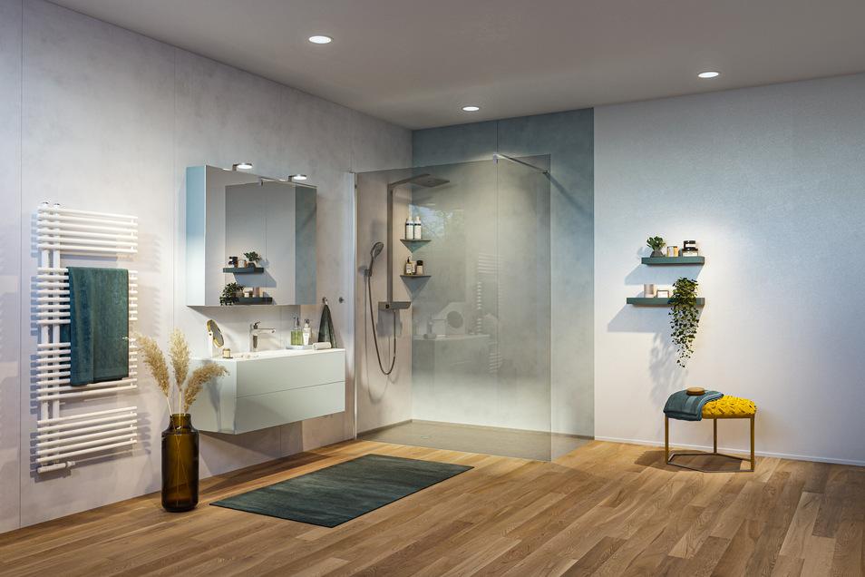 Nach der Dekoration sieht das Bad gleich viel gemütlicher aus.