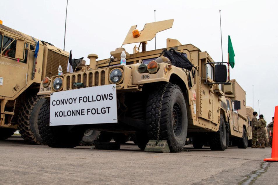 """Die ersten 120 US-Soldaten bereiten sich in der Ernst-Moritz-Arndt-Kaserne der Bundeswehr in Hagenow auf ihre Weiterfahrt zur Nato-Großübung """"Defender Europe 2020"""" vor. In der Oberlausitz werden die ersten US-Soldaten Mitte März erwartet."""
