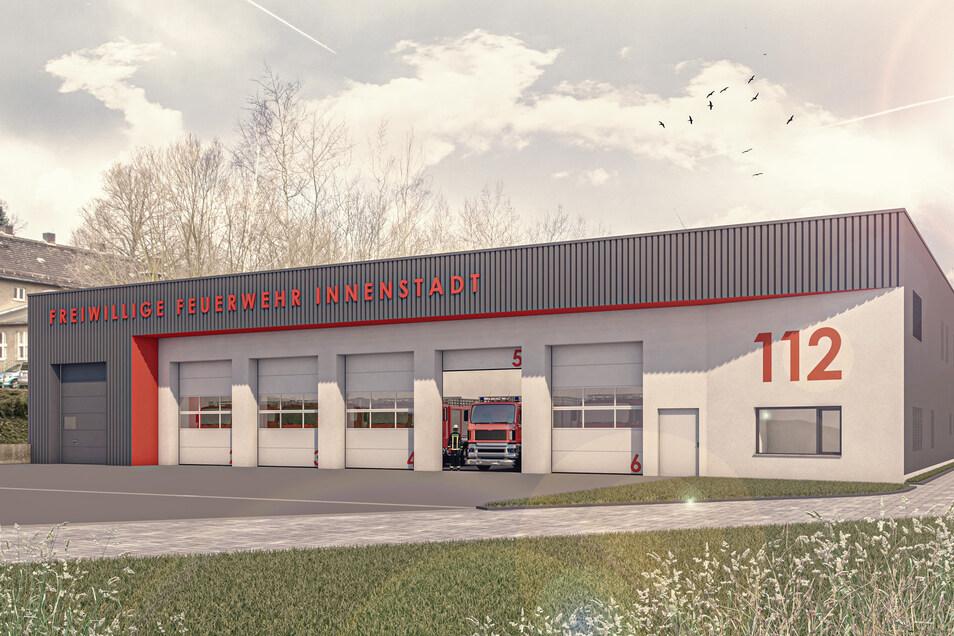 So soll das neue Feuerwehrgerätehaus der Freiwilligen Feuerwehr auf der Cottbuser Straße in Görlitz aussehen.
