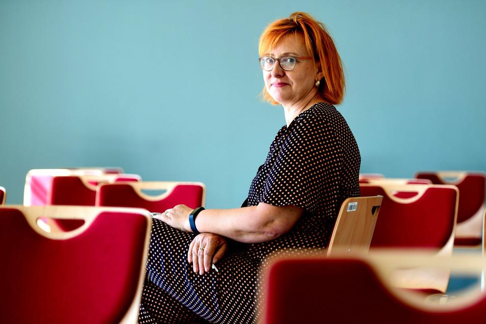 Katrin Keller ist die neue Schulleiterin am Oberland-Gymnasium Seifhennersdorf.