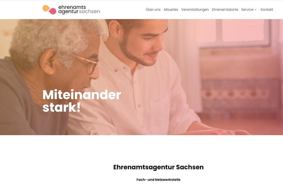 Wer sich über die Ehrenamtsagentur informieren will, kann die Homepage unter www.ehrenamt-sachsen.de nutzen.