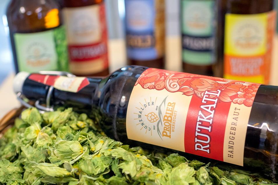 Fünf verschiedene Sorten Bier werden in Cunewalde hergestellt. Darunter auch das Rotblonde, das in Oberlausitzer Mundart nach dem Vogel des Jahres - dem Rotkehlchen - benannt ist.