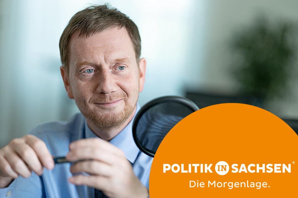 Sachsens Ministerpräsident Michael Kretschmer spricht im Podcast über den Wahlkampf und die Chancen der Union.