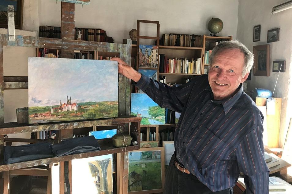 Ulrich Jungermann verbindet mit jedem seiner Bilder eine Geschichte.