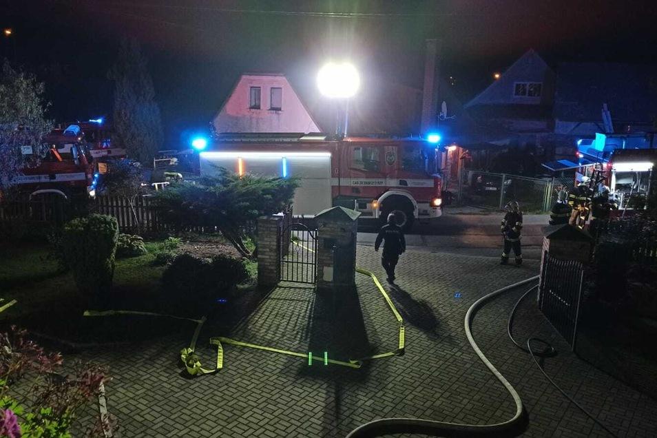Feuerwehren aus fünf Orten waren im Einsatz.