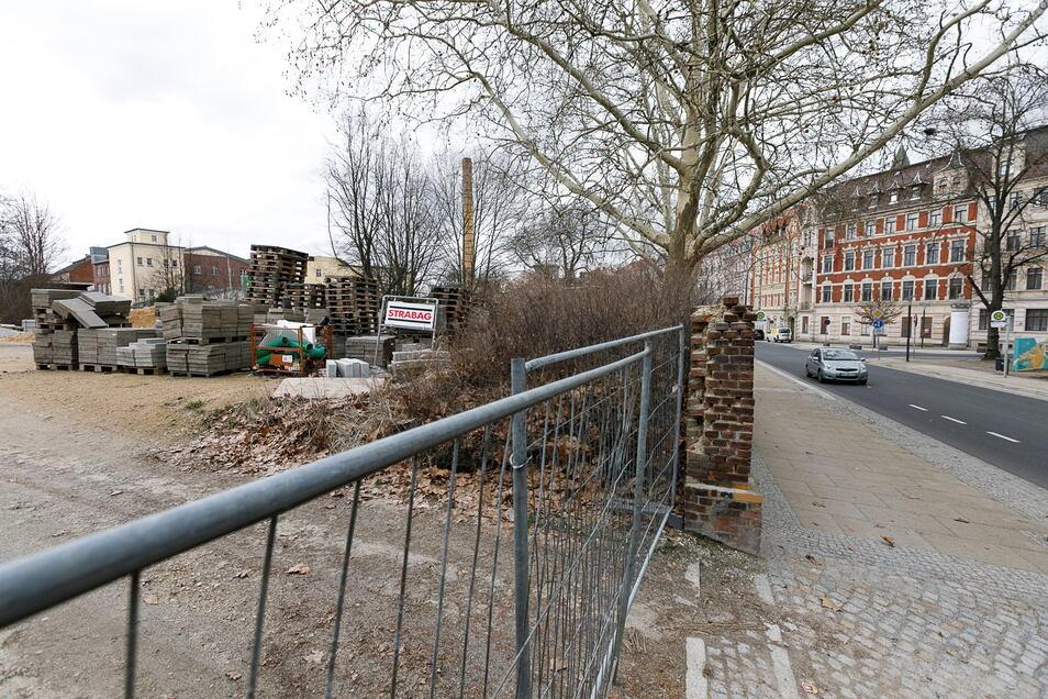 Hier an der Rauschwalder Straße soll die neue Fernwärmetrasse verlegt werden. Ob an dieser Stelle später auch die neue Oberschule gebaut wird, steht indes noch in den Sternen.