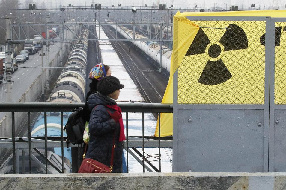 In diesem Jahr gab es schon mehrere Uran-Transporte nach Russland.