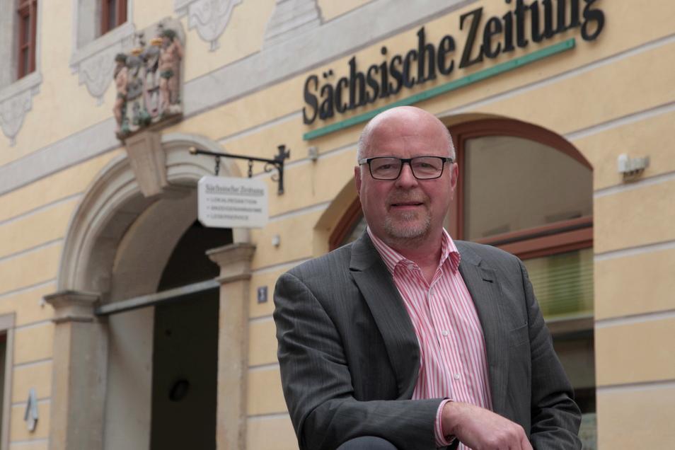Familiär vorgeprägt, wechselte Jörg Seidel 1990 in die Verlagsbranche. Heute führt er die Verlagsgeschäfte der DDV Sächsische Schweiz-Osterzgebirge GmbH – nach wie vor mit großer Leidenschaft und Engagement.