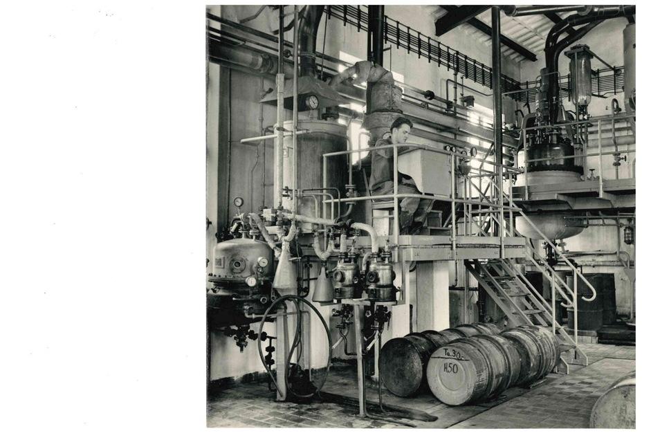 Einblicke ins Innere der Produktionsanlagen. Auch diese Bilder entstanden wohl um 1960.