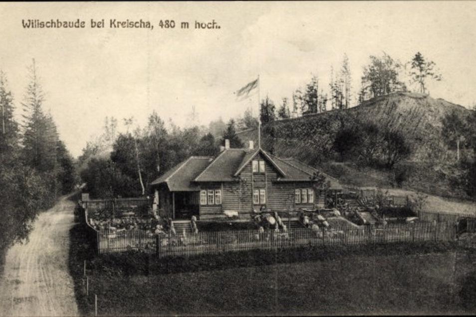 Die Wilischbaude wurde 1933 bei einem Unwetter schwer in Mitleidenschaft gezogen.