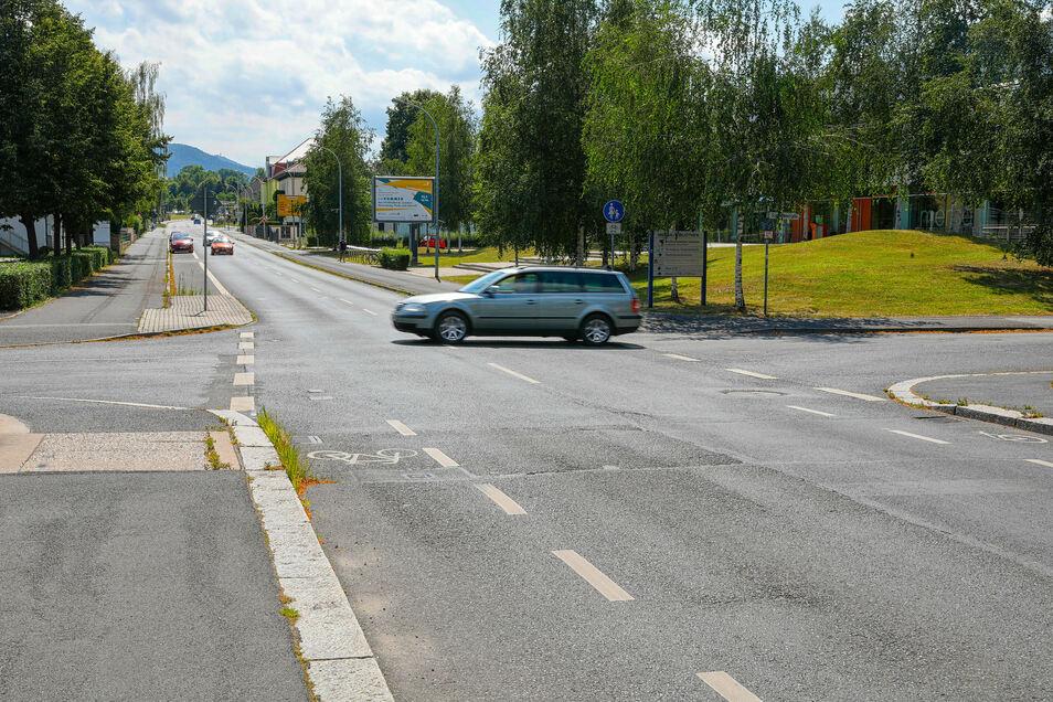 Der Schulweg an der Hochwald/Schliebenstraße in Zittau soll sicherer werden.