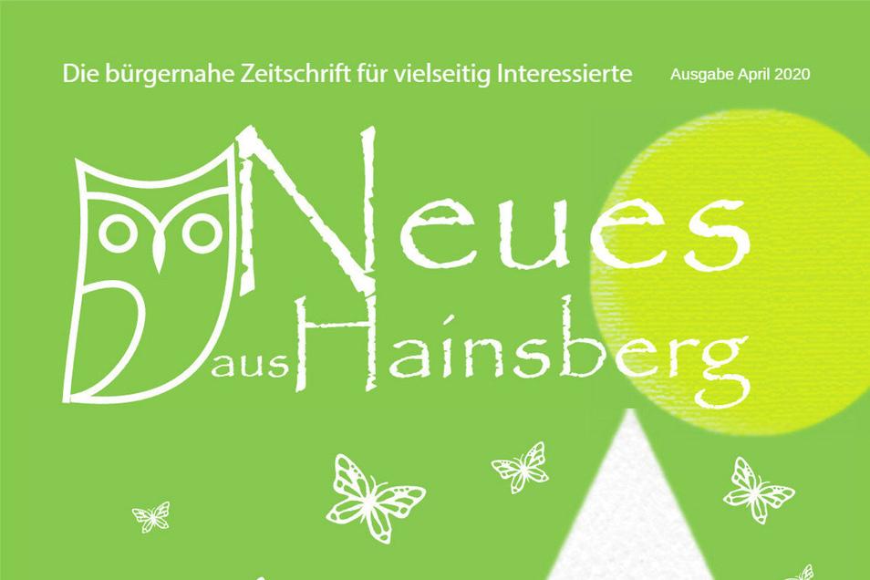 Das Titelblatt der Hainsberger Zeitung präsentiert sich im April 2020 in der Farbe der Hoffnung.