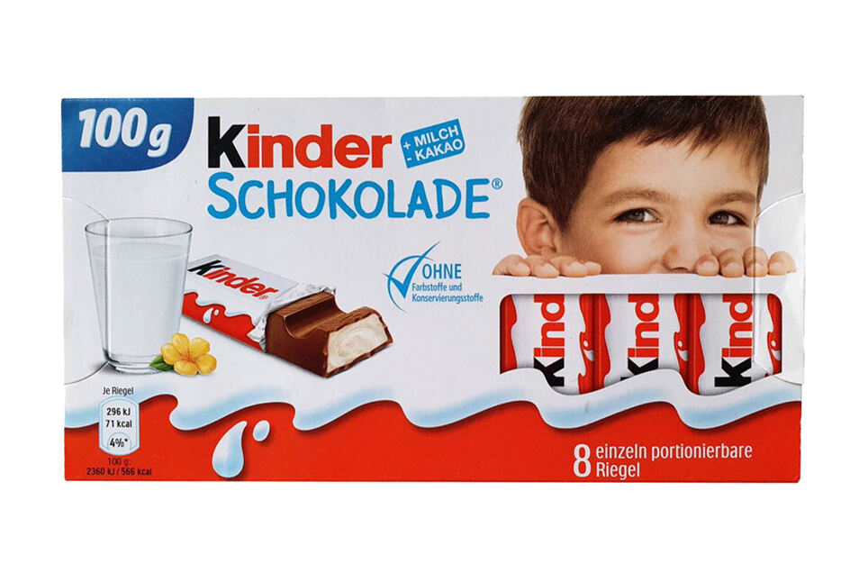 3. Platz: Kinder Schokolade, Ferrero, 3.960 Stimmen (18,5 Prozent)