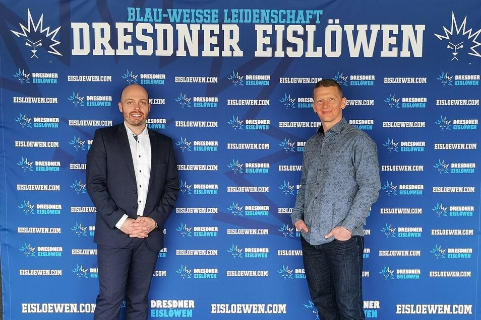 Maik Walsdorf (l. i. B.) und Jens Hewald (r. i. B.).