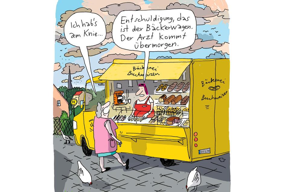 Die Siegerkarikatur von Detlef Beck.
