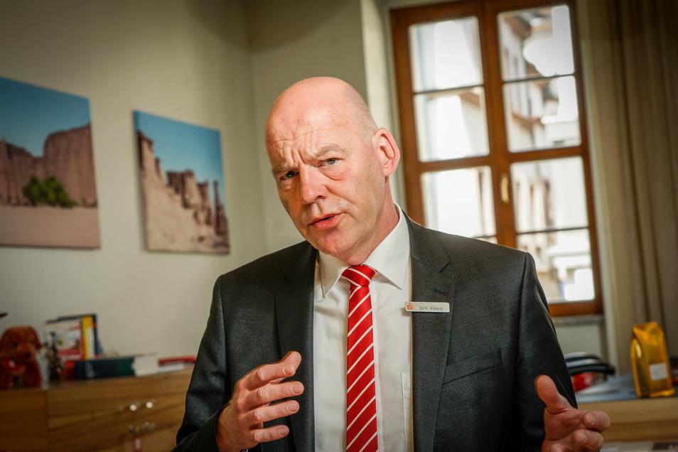 Steckt die Kreissparkasse Bautzen in der Krise? Dazu sprach Sächsische.de mit Vorstand Dirk Albers.