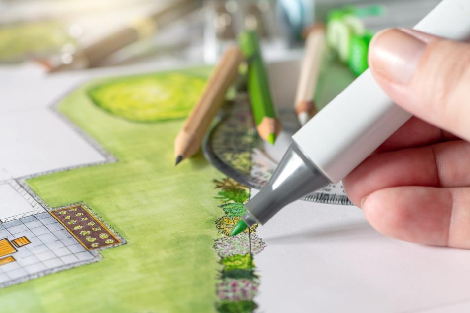 Mit systematischer Planung gelingt das Projekt Gartengestaltung.