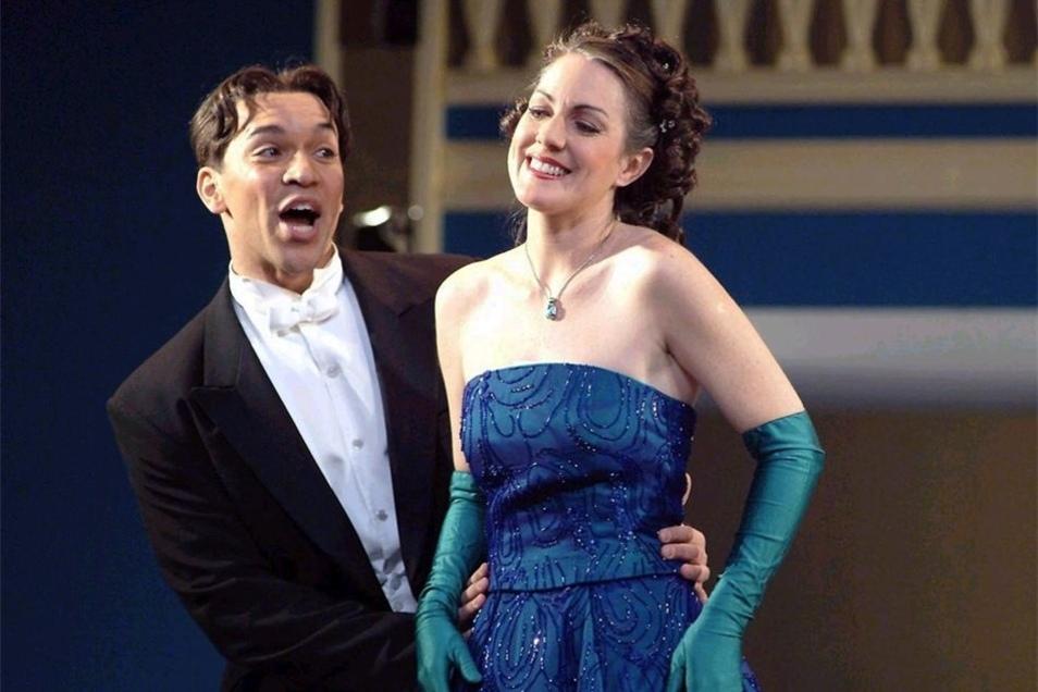 """Adrett, charmant und stimmgewaltig: In der Operette """"Wiener Blut"""" spielte Luis Lay 2005 den Josef am Landestheater Coburg."""