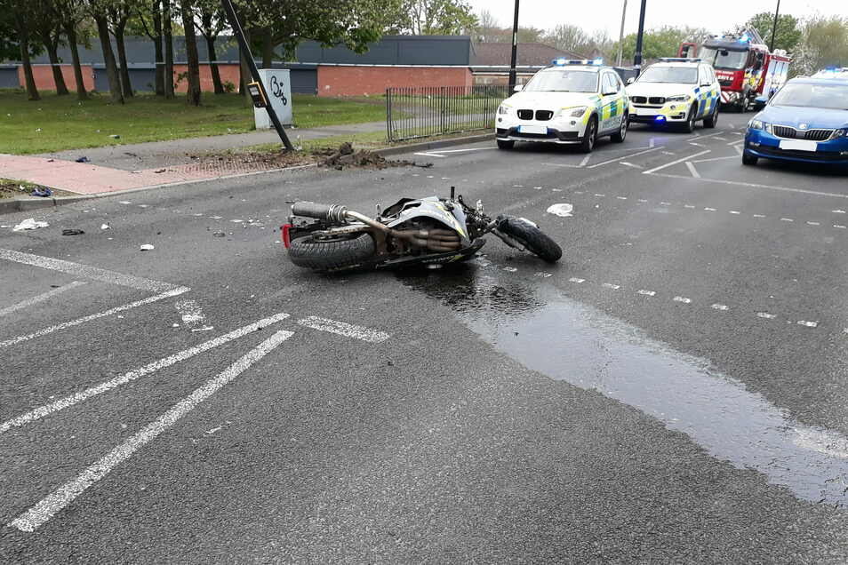 Die Unfallstelle: Einer der beiden Motorraddiebe starb.