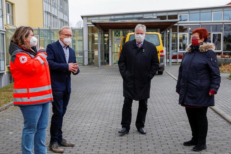 Im Pflegestift Oberland ging es los. Hier wurden Ende Dezember die ersten Pflegeheim-Bewohner im Kreis Görlitz geimpft