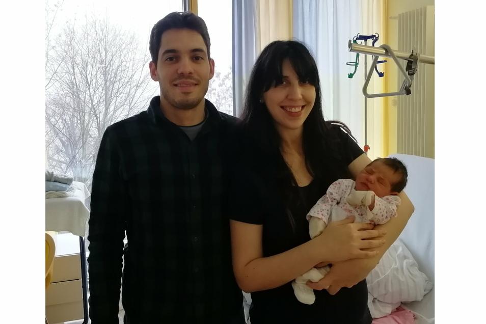 Baby Natalia Isabel ist am 1. Januar 2021 im Riesaer Elblandklinikum auf die Welt gekommen.