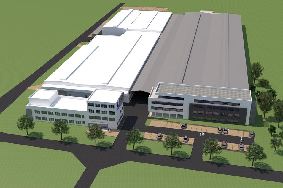 Zwei neue Fertigungshallen & Bürogebäude werden entstehen.