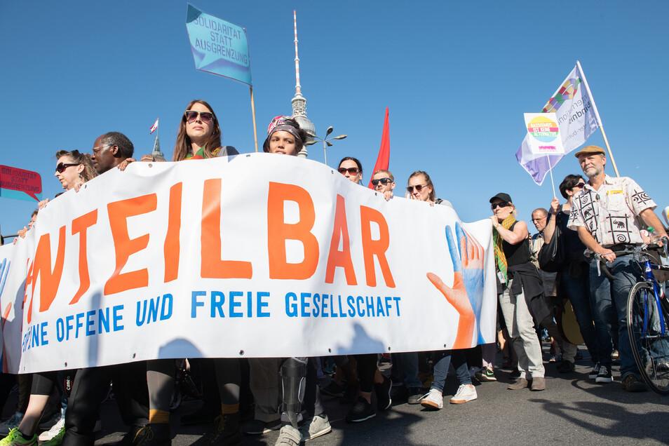 Am Sonnabend soll die #unteilbar-Demo durch Dresden ziehen.