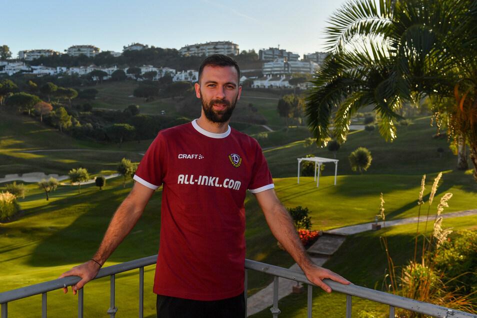 Josef Husbauer ist seit Dienstag im Dynamo-Mannschaftsquartier und kann dort auch die Aussicht genießen.