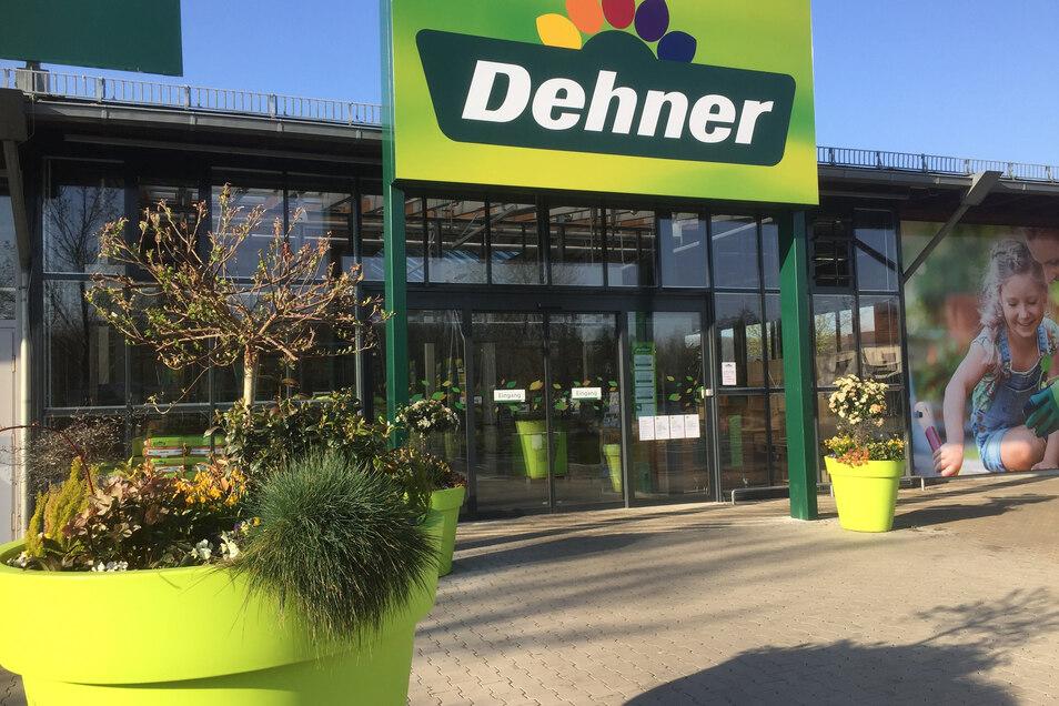 Der Dehner in Brockwitz an der Dresdner Straße musste wie alle andern Gartenmärkte in Sachsen und Bayern schließen.