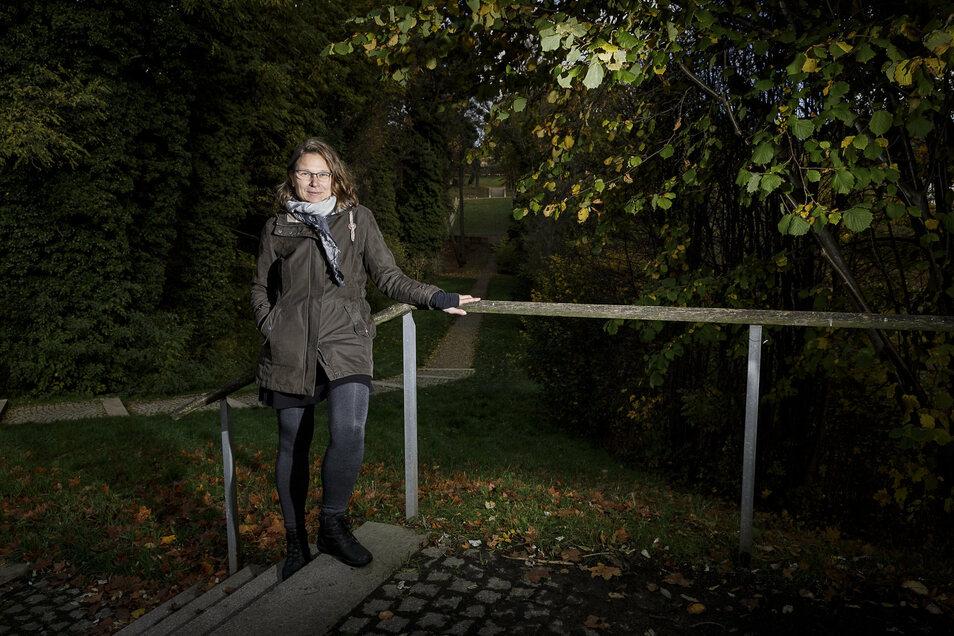 Ist vom neuen Kaufhaus in Görlitz nicht überzeugt: die Görlitzer Ko-Vorsitzende der Grünen, Janet Conrad.
