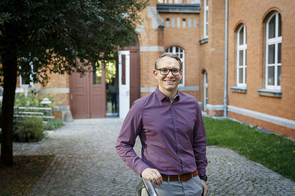Benjamin Küßner bildet sich am Görlitzer Klinikum weiter. Er gehörte zu den ersten, die mit Unterstützung des Freistaates in Ungarn Medizin studierten.