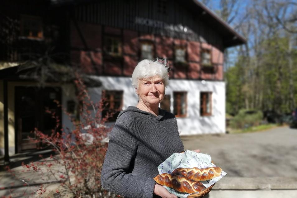 Martina Mertsch ist die Inhaberin der Hochsteinbaude in Königshain.