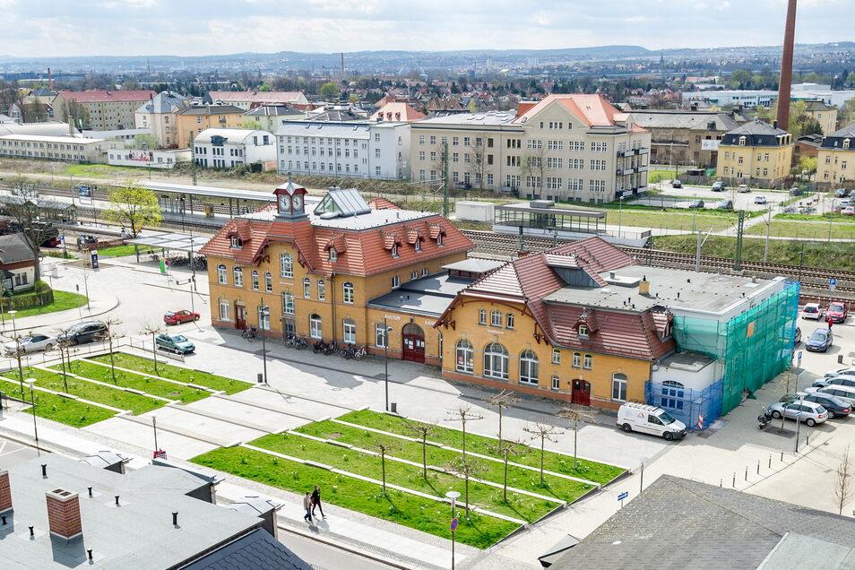 Besonders gelungen empfindet Baubürgermeister Jörg Müller das Umfeld des Kultur-Bahnhofs. Das wurde in seiner Amtszeit neu gestaltet.
