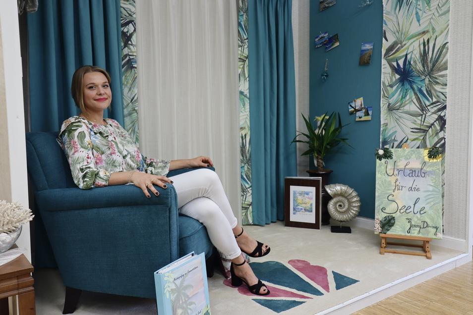 """Jenny Döring schuf mit ihrer Koje """"Urlaub für die Seele"""" einen Platz zum Entspannen und Träumen."""