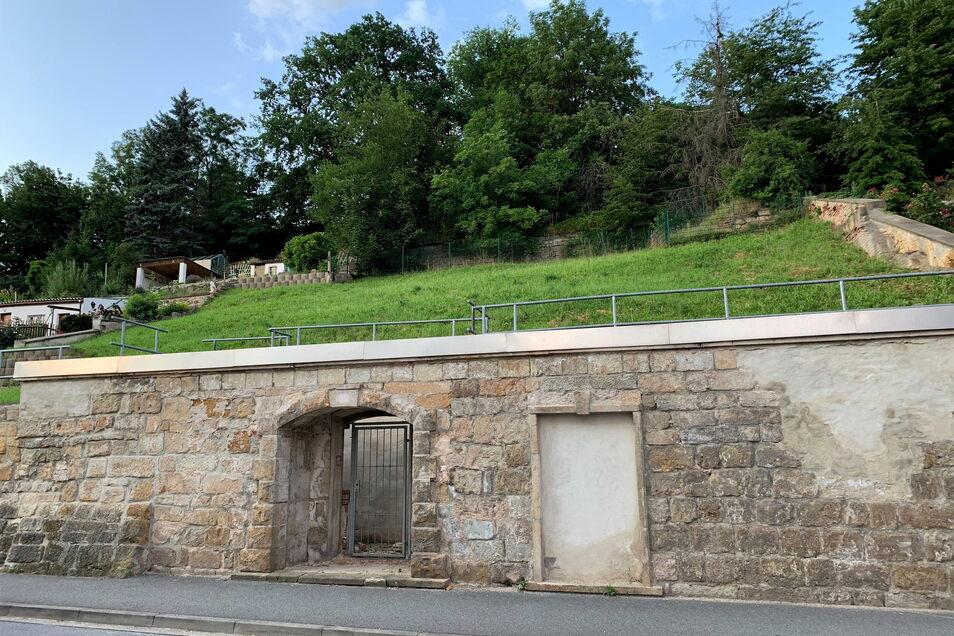 Grundstück Niederleite 12 in Pirna-Copitz: Geeignet für ein Einfamilien- oder ein kleines Mehrfamilienhaus.