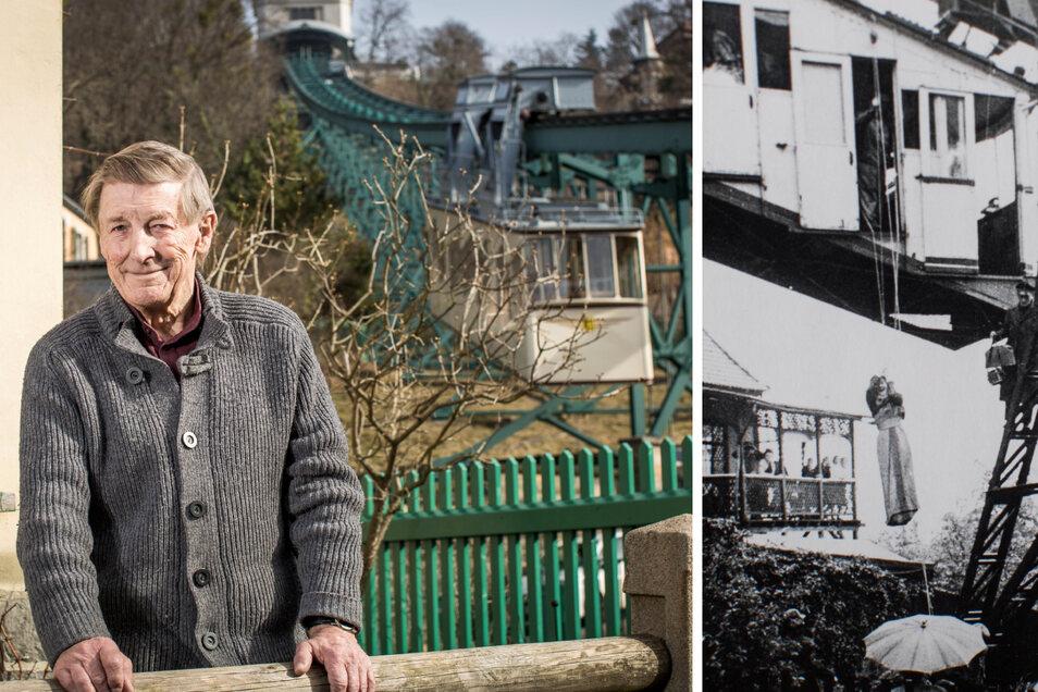 Eberhard Münzner wohnt im Haus neben der Talstation. In den 60ern erlebte er hautnah einen Rettungseinsatz mit Notsack.