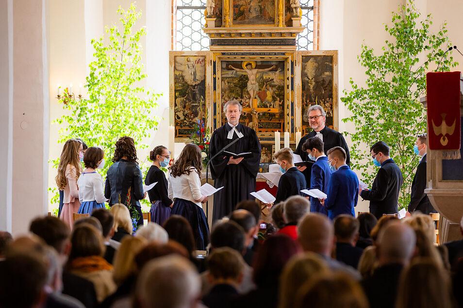 In der Johanneskirche wurde die Konfirmation gefeiert.