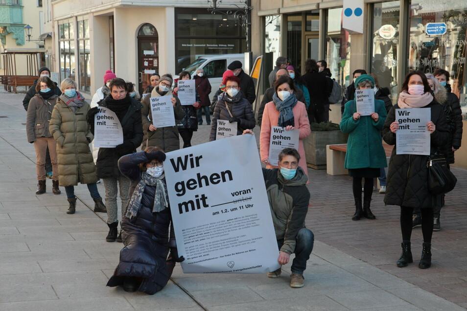 """Händler-Aktion auf der Dohnaischen Straße in Pirna: """"Wir fordern ein klares Wiedereröffnungsszenario."""""""
